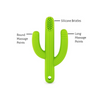 green cactus silicone training toothbrush with silicone bristles and long and round massage points