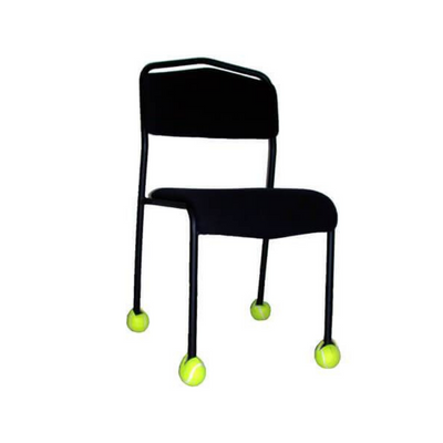 tennis balls on chair to protect floor