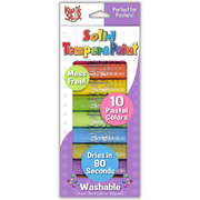 10 pastel solid tempera paint sticks kwik stix