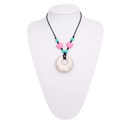 Silicone Heart Style Teething Necklace