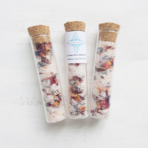 Lavender and Rose Bath Salt Shot