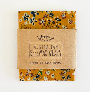 Beeswax Food Wrap - Mustard Floral