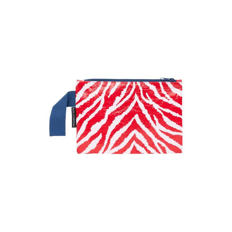 Project Ten Mini Zip Pouch Zebra