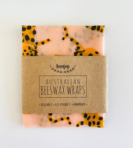 Beeswax Food Wrap - Pink Cheetah