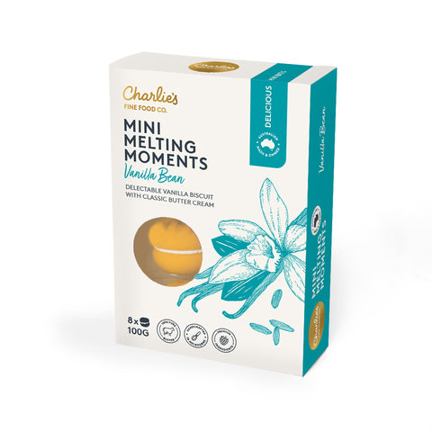 Charlie's Fine Food Co Mini Melting Moments Vanilla Bean
