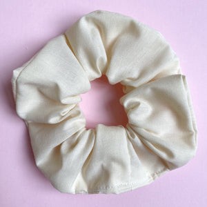 Hair scrunchie - Cream cotton