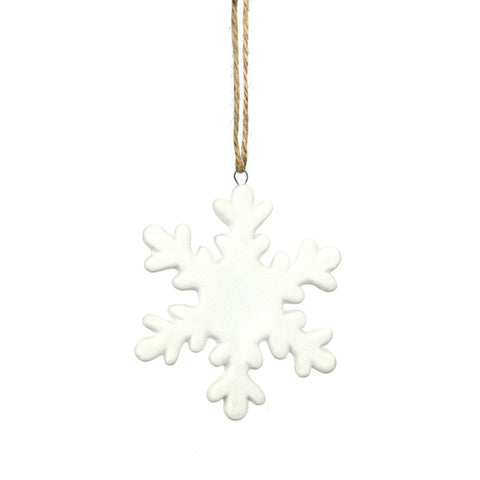 Porcelain Hanging Snowflake Decoration