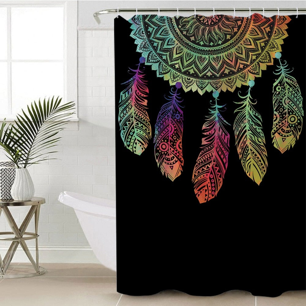 Dream Catcher Mandala Shower Curtain - eCasaMart