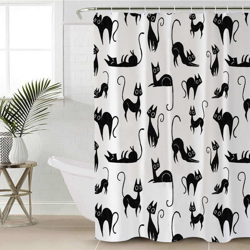 Cat Shower Curtain - eCasaMart