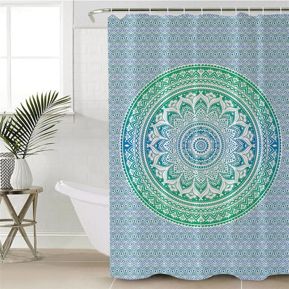 Flower Mandala Shower Curtain - eCasaMart
