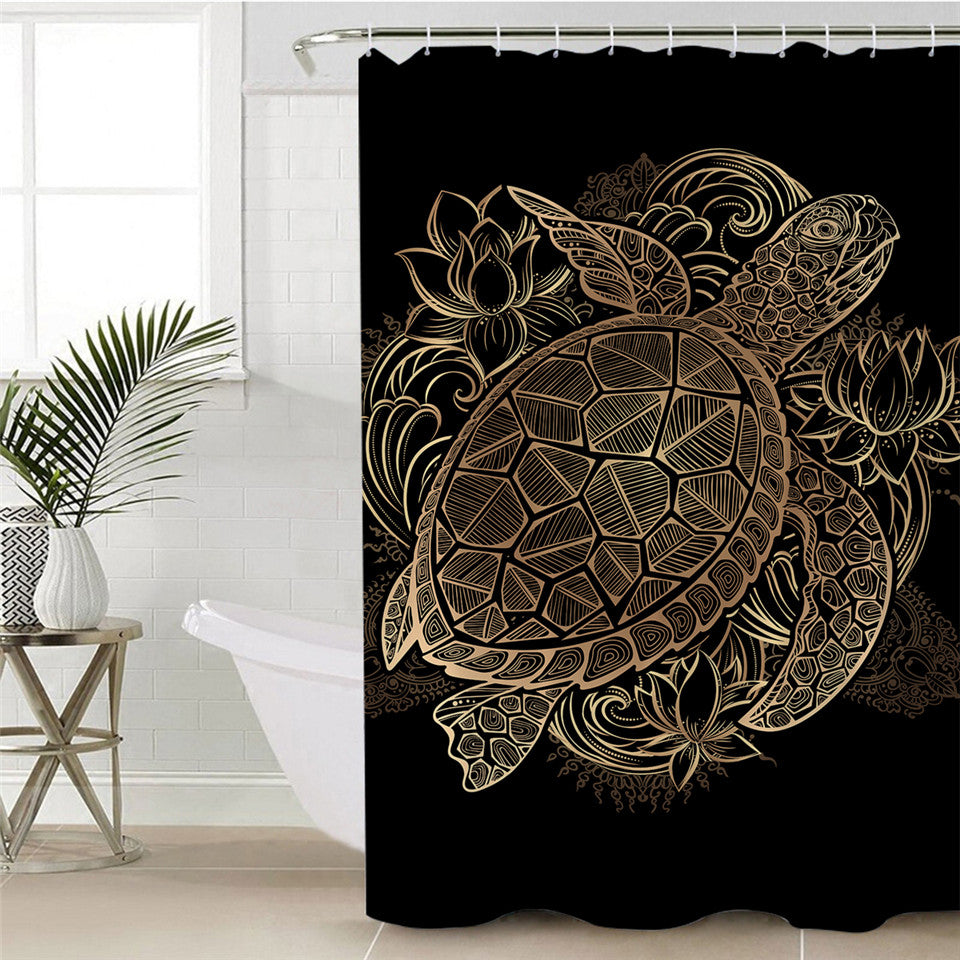 Waterproof Turtle Shower Curtain - eCasaMart