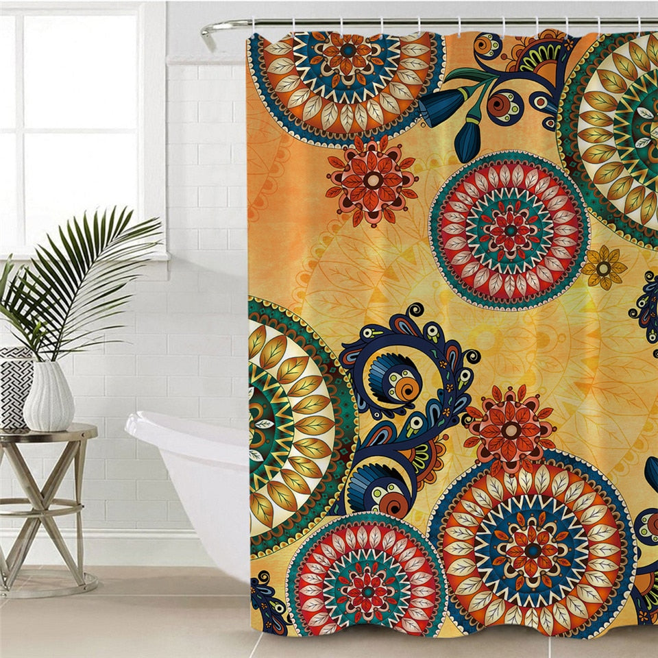 Waterproof Kaleidoscope Shower Curtain - eCasaMart