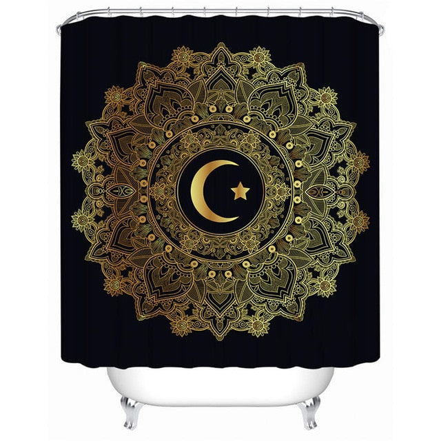 Elephant Mandala Shower Curtain - eCasaMart