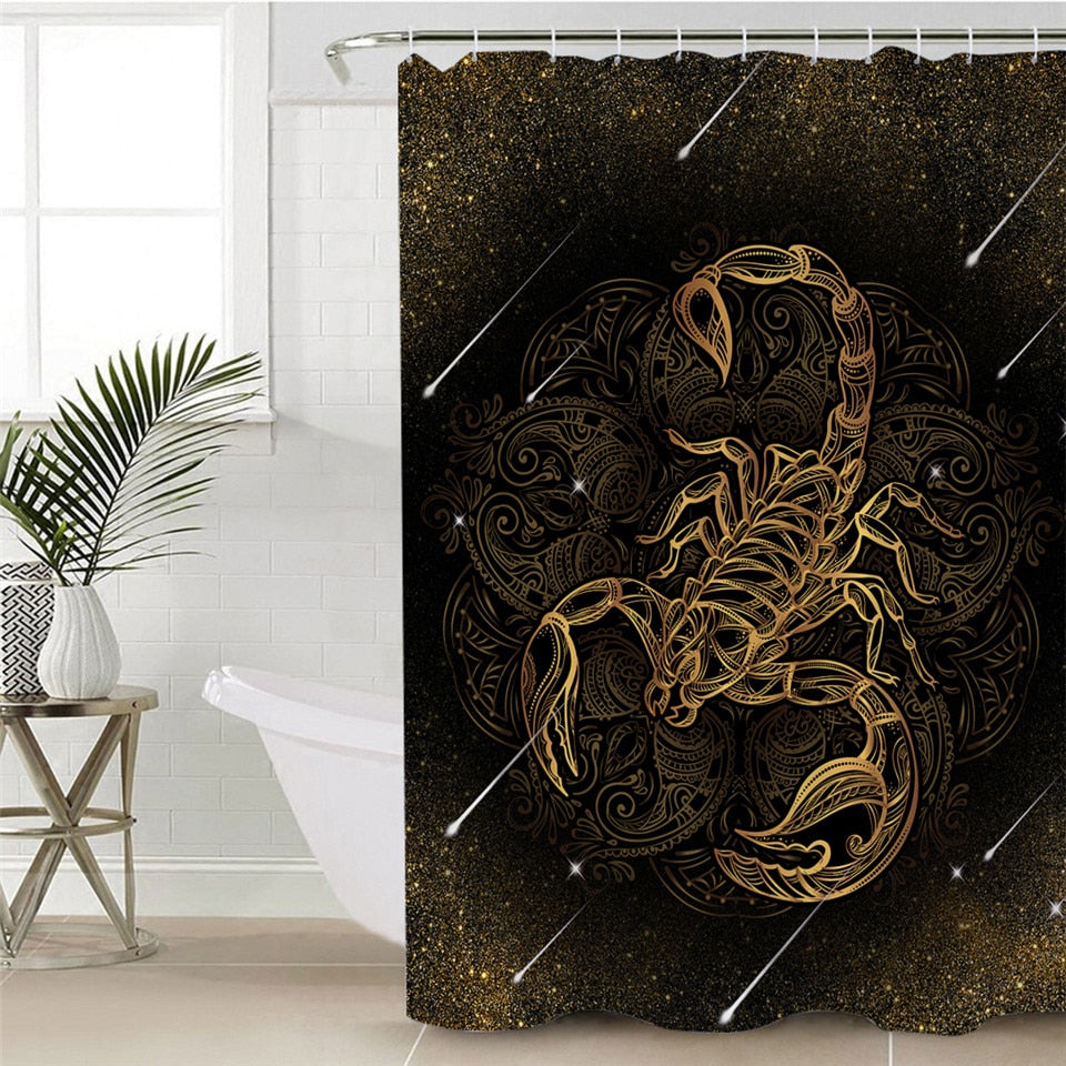 Scorpion Shower Curtain with Constellation Background - eCasaMart