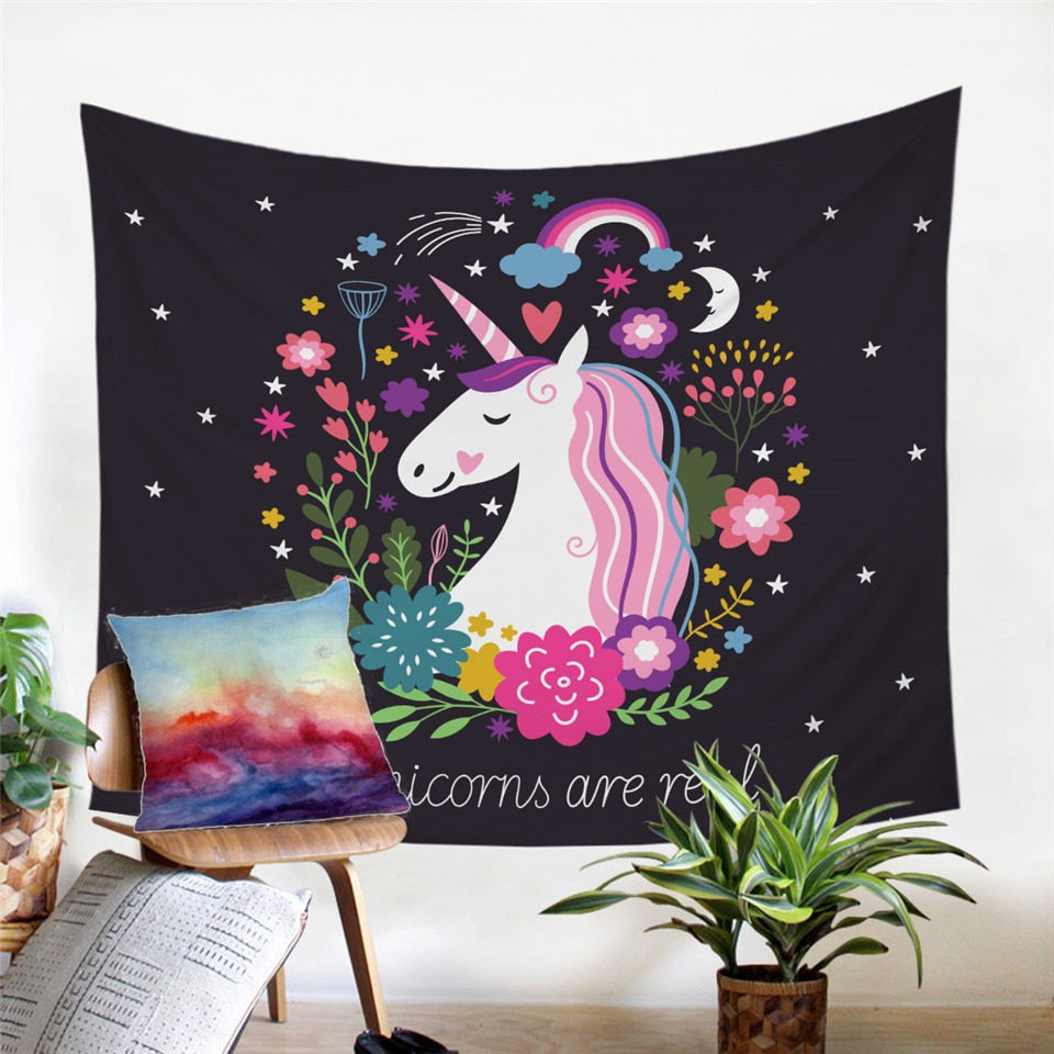 Unicorn Wall Tapestry | Unicorns are real ! - eCasaMart