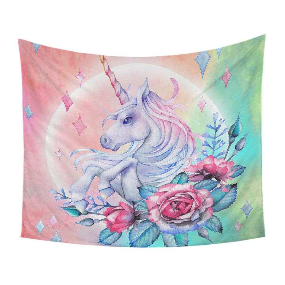 Unicorn Tapestry - Large Wall Tapestry - eCasaMart