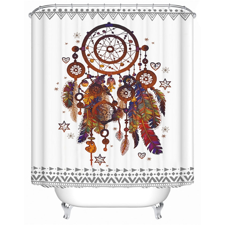 Decorative Dream Catcher Shower Curtain - eCasaMart