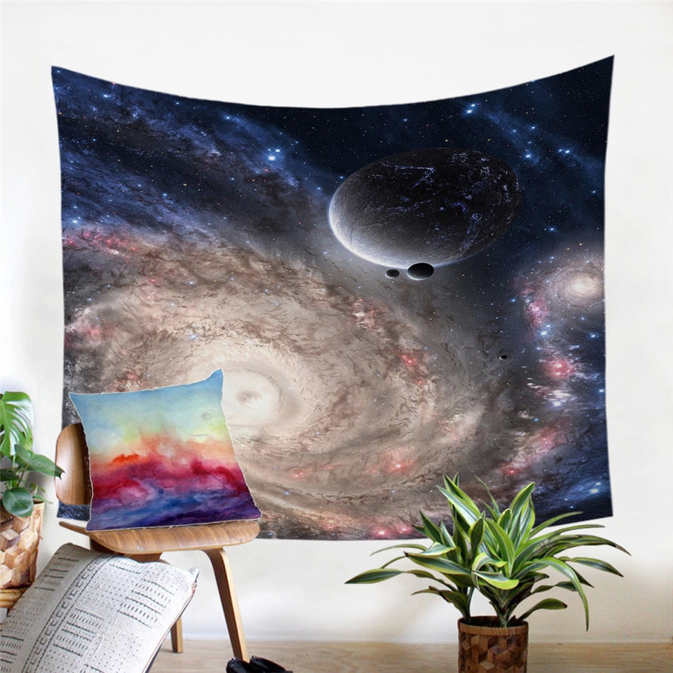 Galaxy Tapestry | 3D Large Wall Tapestry - eCasaMart