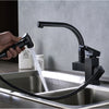 Florence Deck Mount Dual Spout LED Kitchen Faucet with Pull Out Sprayer - eCasaMart