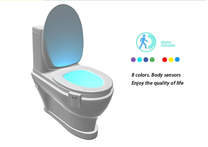 Motion Activated Toilet Light with 8 Different Colors - eCasaMart