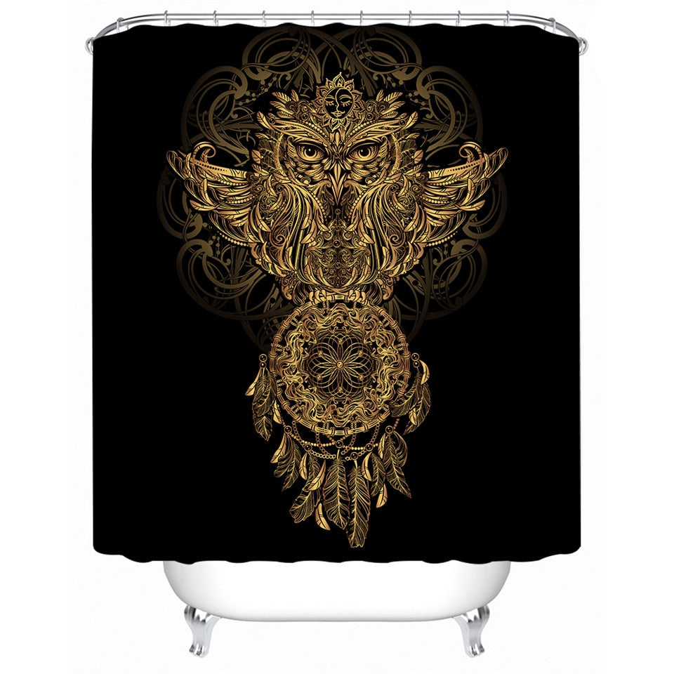 Dream Catcher Owl Shower Curtain - eCasaMart