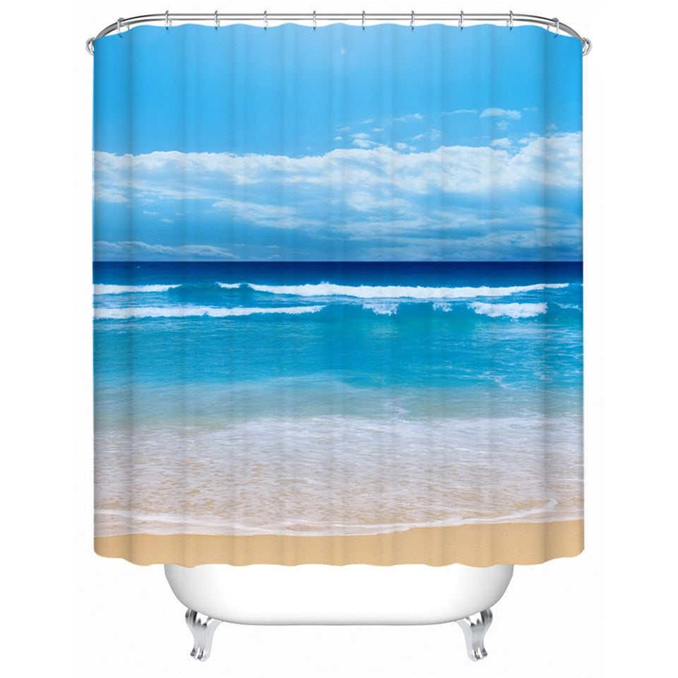 Beach Shower Curtain - eCasaMart