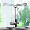 Tahoe Dual Handle Single Hole Kitchen Faucet with Purified Water Outlet - eCasaMart