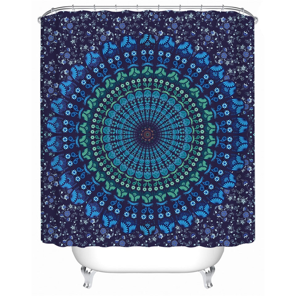 Bohemian Mandala Shower Curtain - eCasaMart
