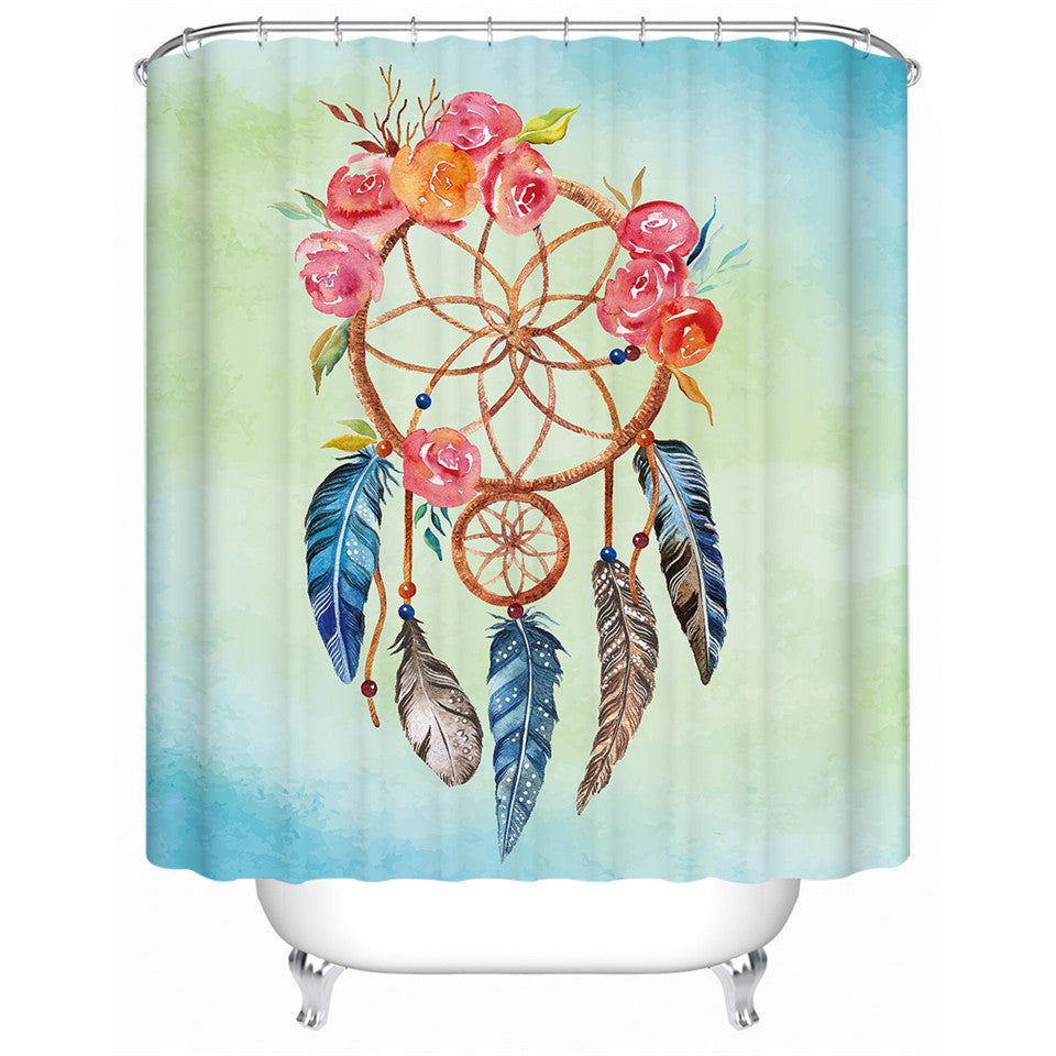 Floral Dream Catcher Shower Curtain - eCasaMart