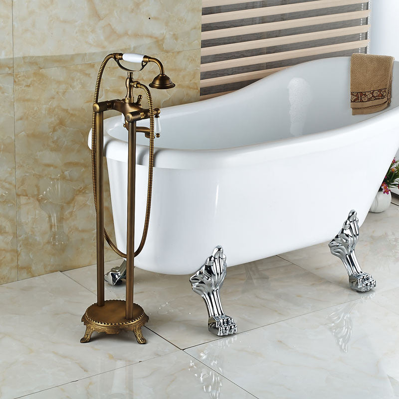 Modena Vintage Clawfoot Tub Faucet with Hand Shower - eCasaMart