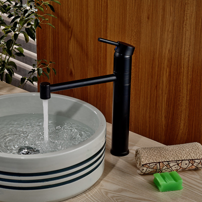 Ravenna Oil Rubbed Bronze Deck Mount Single Handle Bathroom Faucet - eCasaMart