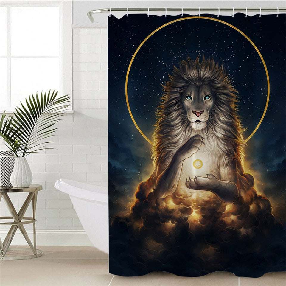 Waterproof Lion Shower Curtain | Soul Keeper by JoJoesArt - eCasaMart