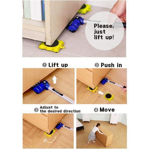 Easy Furniture Lifter Mover Tool Set - eCasaMart