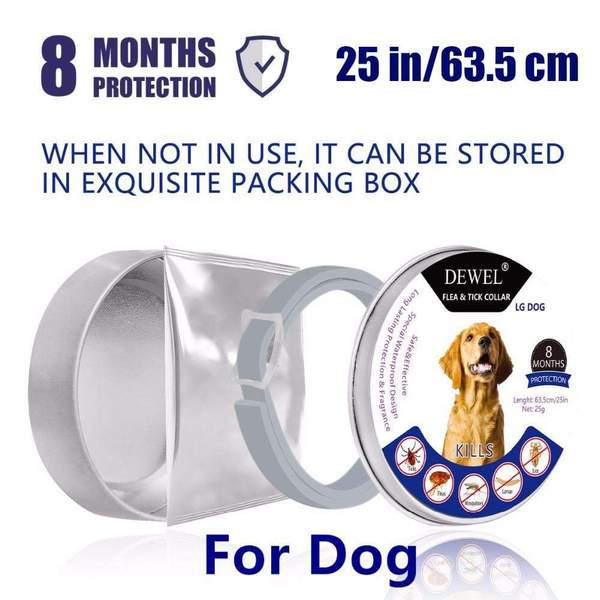 Dewel® Flea and Tick Collar - 8 Months Protection - eCasaMart