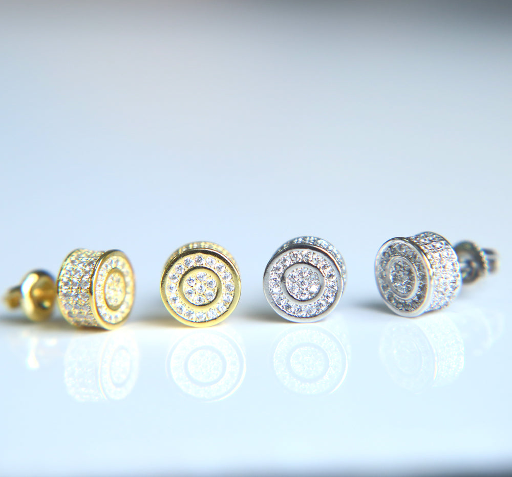 Iced Out Round Dot Earring - eCasaMart