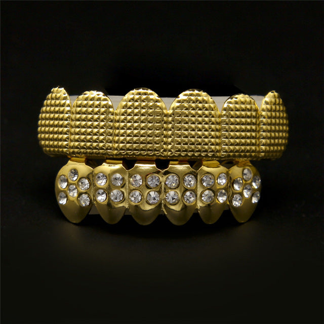 Iced Out Hip Hop Gold / Silver Grill Set - eCasaMart