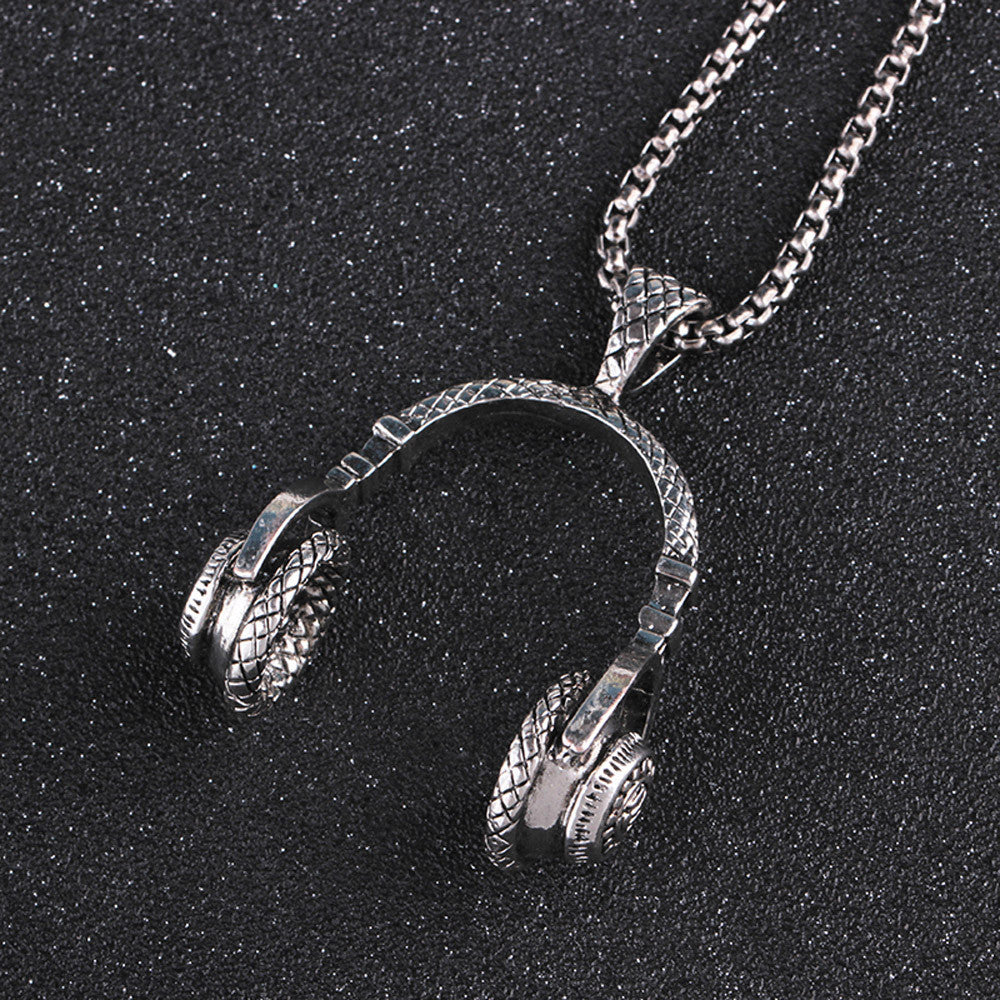 Punk Style Headset Pendant Necklace - eCasaMart