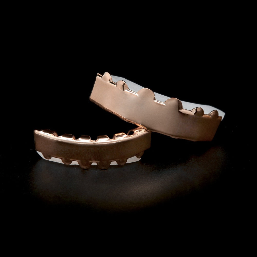 Rose Gold Plated Grillz Set - eCasaMart