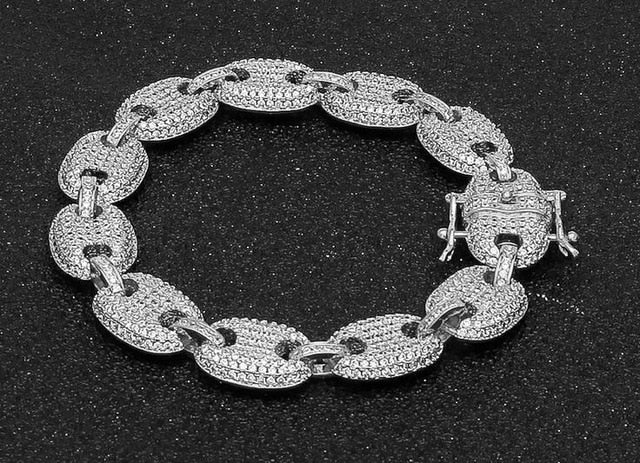 Iced Out CZ Paved Link Chain - eCasaMart