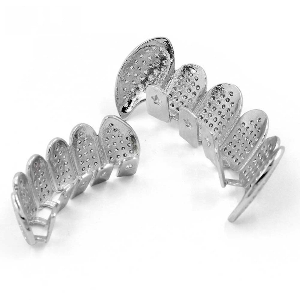 Iced Out Gold / Silver Grill Set - eCasaMart
