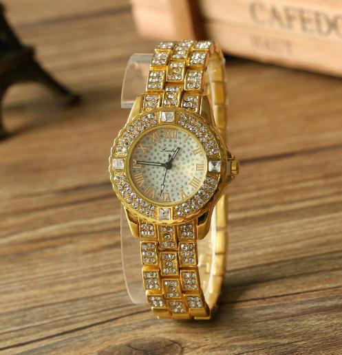 Iced Out Gold Watch & Bracelet Set - eCasaMart
