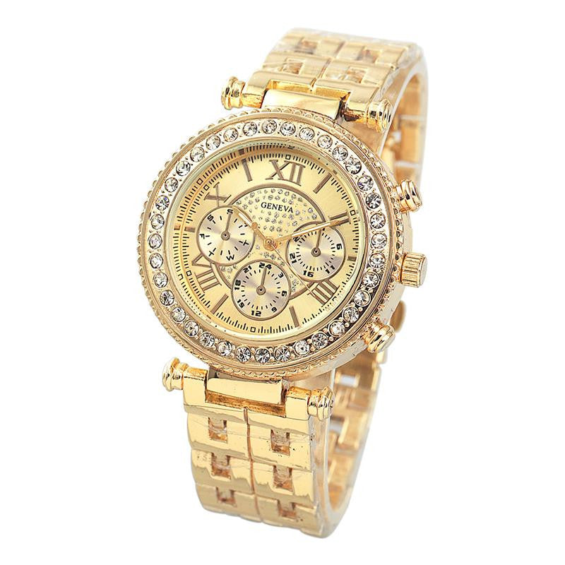 Iced Out Rhinestone Full Steel Watch - eCasaMart