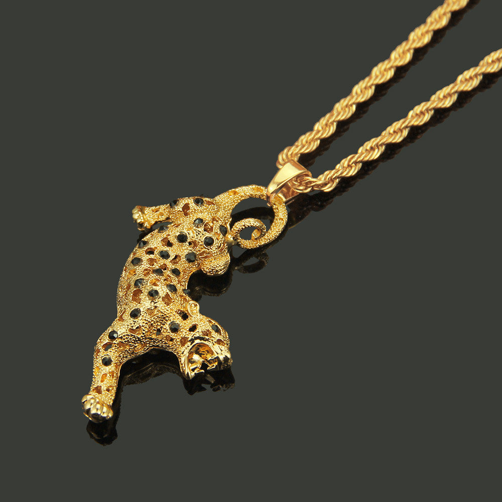 Iced Out Leopard Pendant & Necklace - eCasaMart