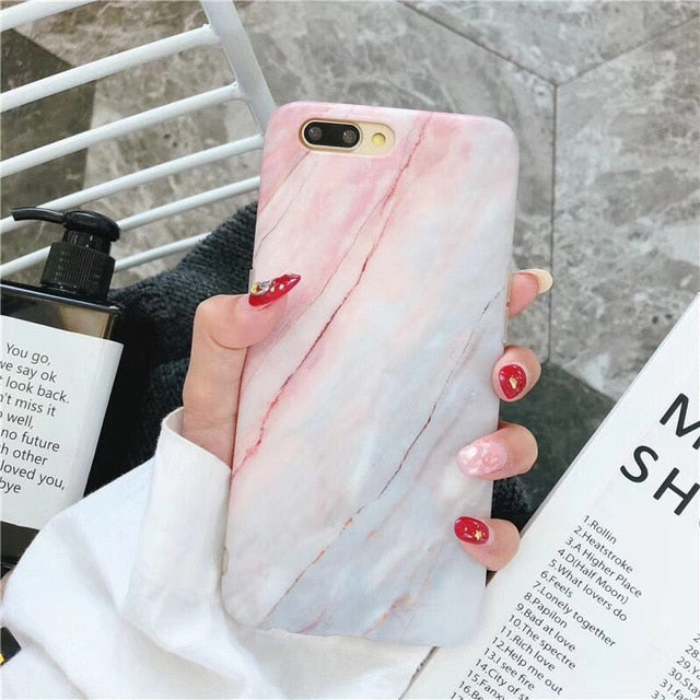 Marble Design Phone Case for iPhone 6, 6 Plus, 6S, 6S Plus, XR, XS MAX, 7, 7 Plus, 8, 8 Plus - eCasaMart