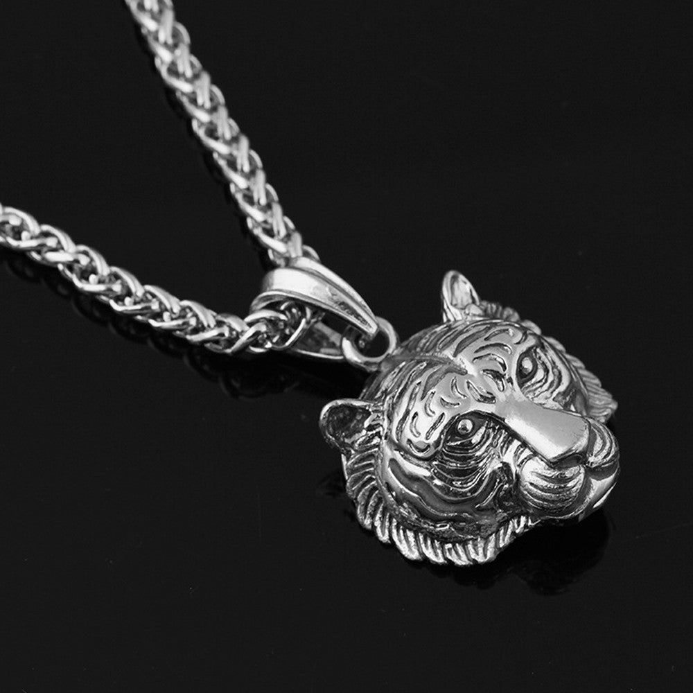 Luminous Tiger Head Pendant Necklace - eCasaMart