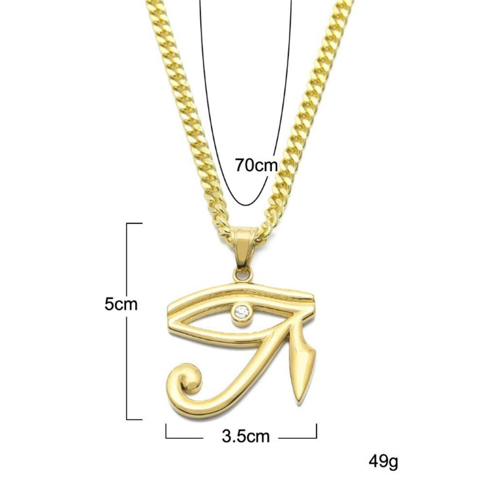 Eye of Horus Pendant with Link Chain Necklace - eCasaMart