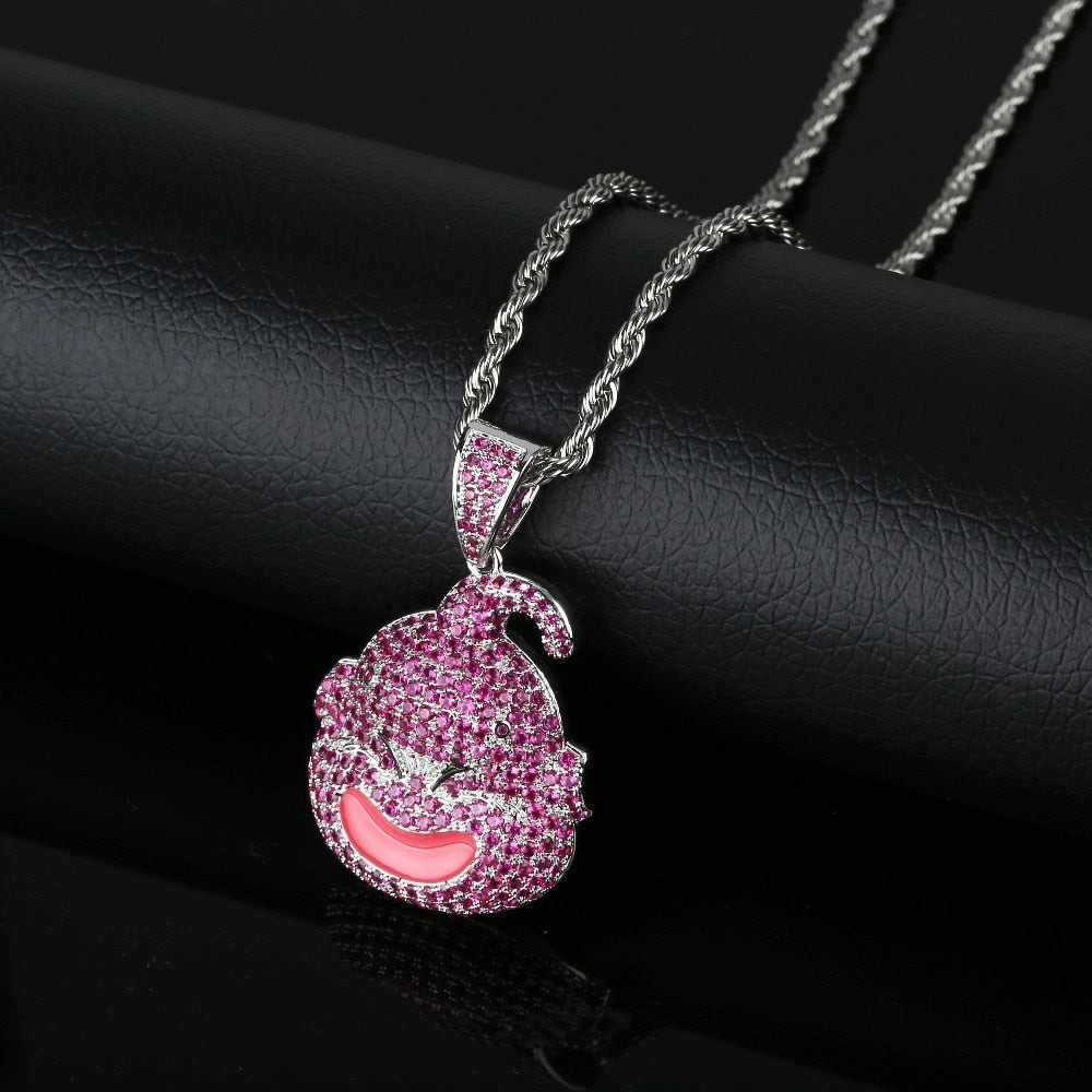 Iced Out CZ Pave Pendant with Gold / Silver Necklace - eCasaMart