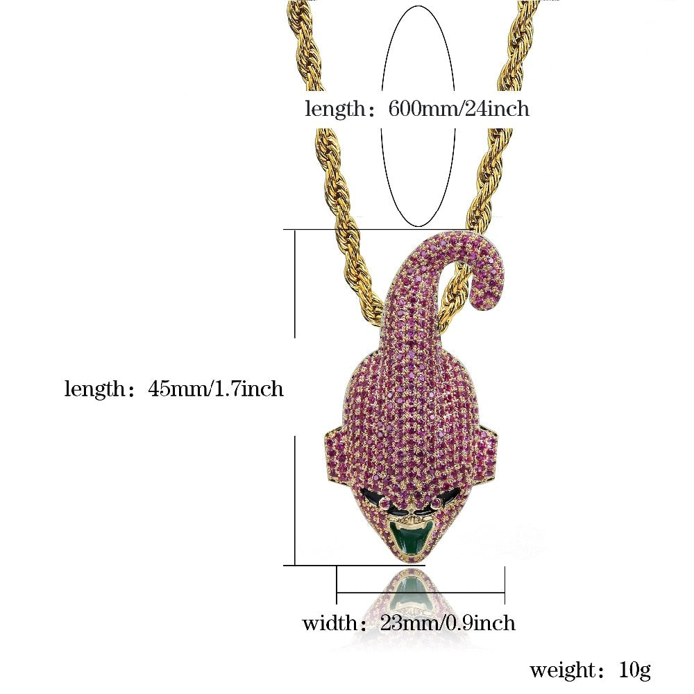 Iced Out CZ Pave Pendant with Gold / Silver Chain - eCasaMart