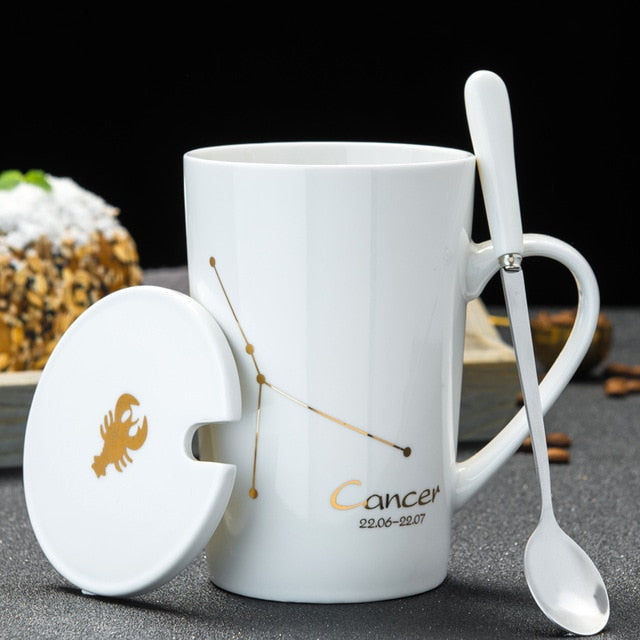 Zodiac Star Constellation Ceramic Mug Set - eCasaMart