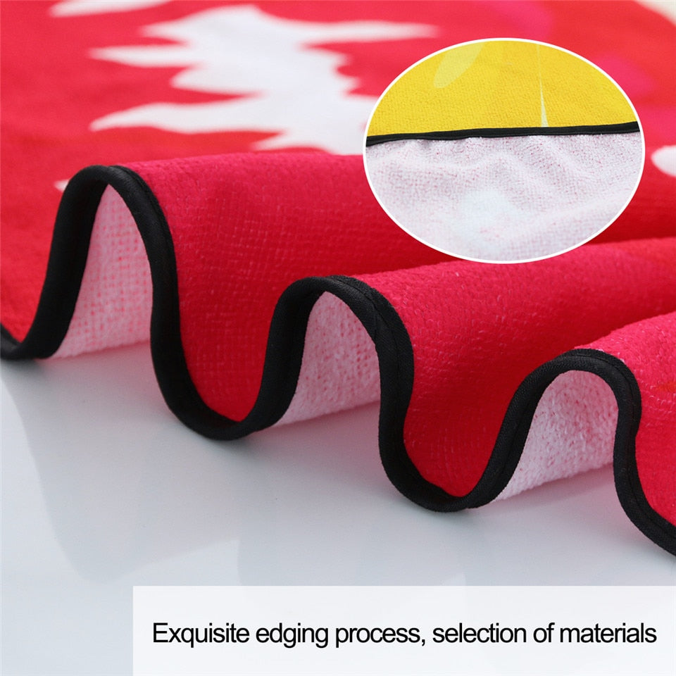 Red Lip Shaped Irregular Beach Towel - eCasaMart
